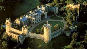 Warwick castle aerial view