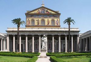 The Papal Basilica of Saint Paul Outside the Walls located in Rome, Italy. It is a Church built in 1823 based on the neoclassical style. It became one of the most beautiful of the Middle Ages.