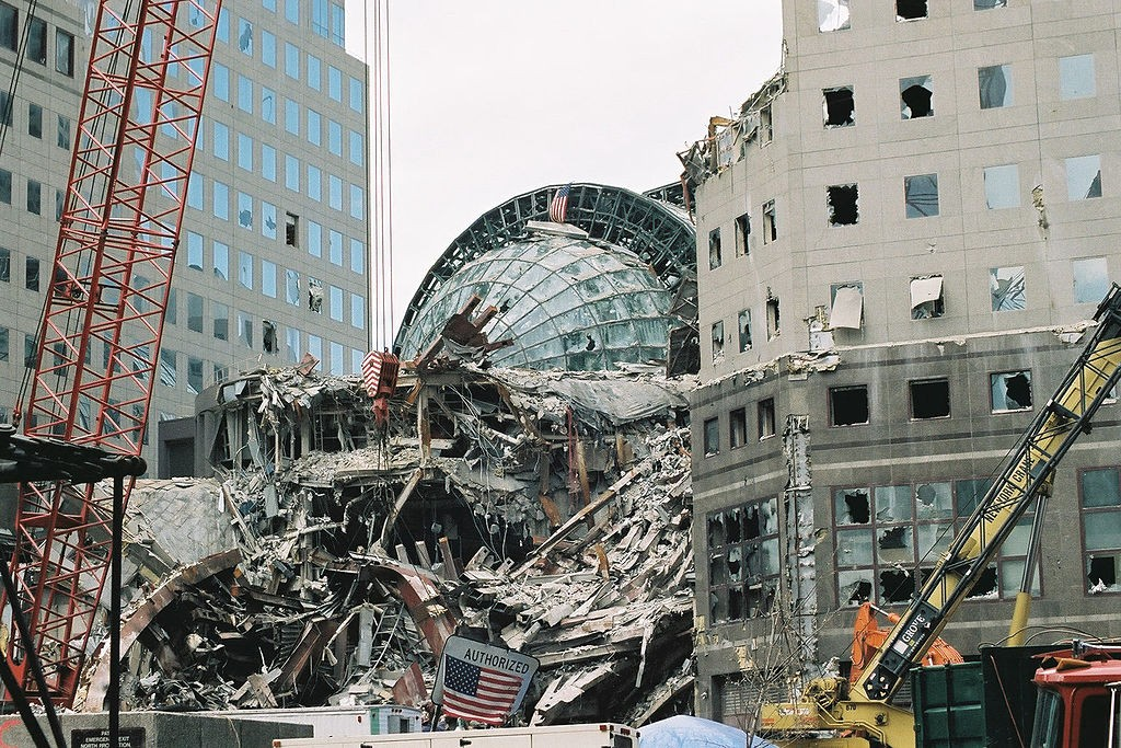 The Winter Garden after the 9-11 attacks